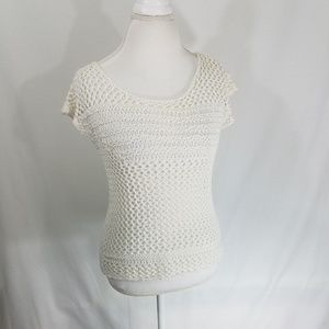 Converse Womens Cream XS Knitted Pullover Top